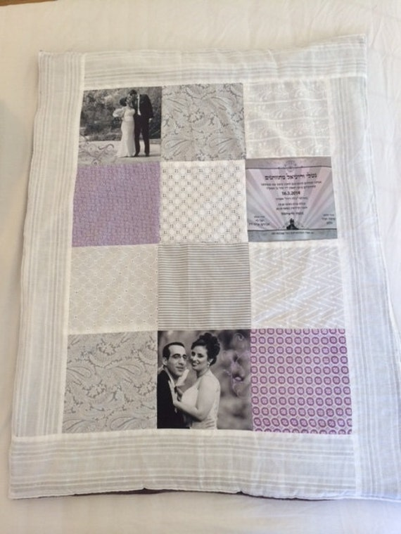 Personalised Wedding Gift Portrait : Custom Wedding Gift. Photo Quilt. Bedding Gift for Women. Wedding ...