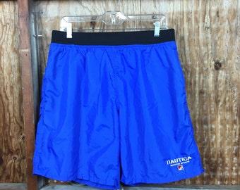 Vintage, VTG, 90's Nautica Board Shorts Swim Trunks Sz. Large