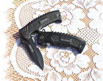 4 Engraved Best Man Gift , Engraved Pocket Knife , Best Man gift , Hunting Knife , Groomsman knife , Fathers Day  Gift Knife