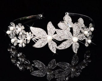 Bridal Crystal Headband - Pearls/Crystals/Rhinestones