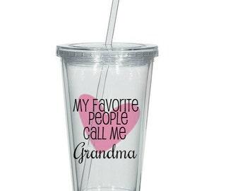 Grandma Gift, Grandma Tumbler, Grandma Present, Gift for Grandmother