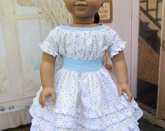 American Girl Doll Marie Grace Polka Dot Dress 1850's NOLA