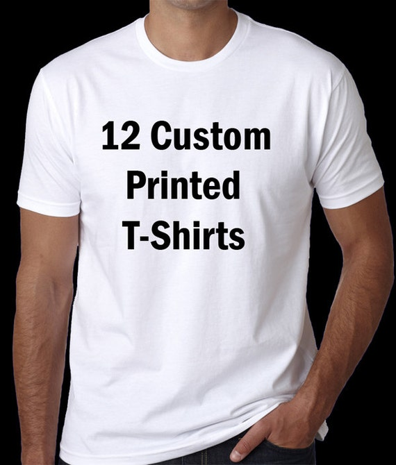 12 custom screen printed t shirts bulk orders wholesale