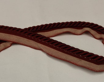 Deep Red Braided Cording - Decorative Trim 908