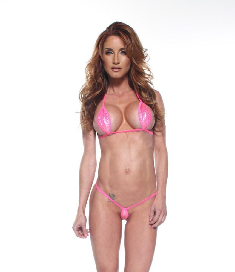Sparkly bikini holographic porn tube