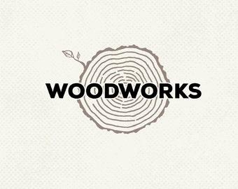 Pre made logo, Carpenter logo, Construction logo, Woodworks logo, Professional business branding, Personal logo, One of a kind logo