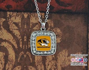 Missouri Tigers Square Necklace