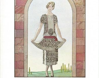 Here I Am, Bon Ton Parisienne Fashion From 1912-1925, Fine Art Print, Book Plate, Illustration, Wall Decor, Fashion Lovers BT6