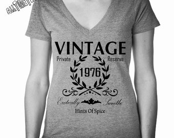1976 Birthday. Relax Fit. CUSTOM Date. Vintage Shirt. 40th Birthday Shirt. 1976 Birthday Shirt. Birthday Gift for Her. Ships from USA