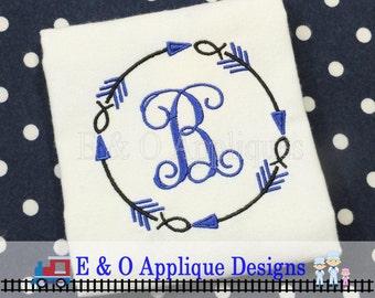 Jesus Fish - Arrow Monogram - Machine Embroidery Design - Tribal Embroidery Frame - Christian Religious Design - Ichthus Design - Faith Fish