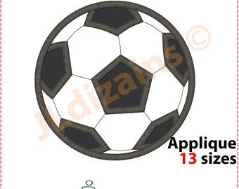 Soccer Ball Applique Design. Soccer ball embroidery design. Embroidery design soccer ball. Ball applique design. Machine embroidery design