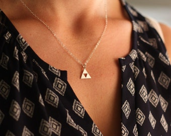 SALE - Triforce Necklace - Legend of Zelda Necklace-  Zelda Jewelry - Sterling Silver - Gamer Jewelry - Geekery - Mothers Day Gift