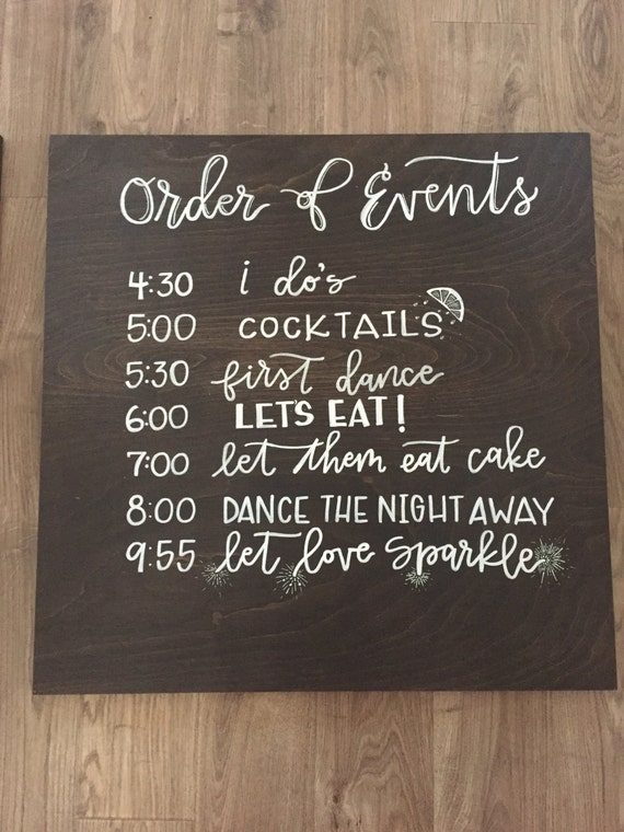 events timeline order sign signs schedule reception weddings program ceremony chalkboard itinerary night dance window signage programs chalk burlap receptions
