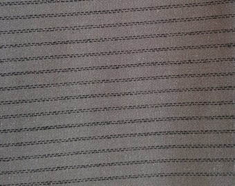 "52"" Wide (Grey & Black Stripe) Quilting fabric. Sold by the 1/2 Yard"