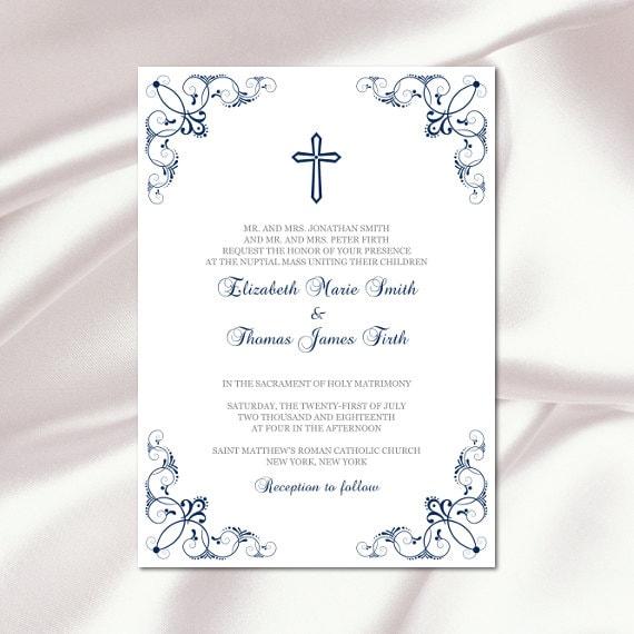 Modèle de faire-part de mariage catholique bricolage