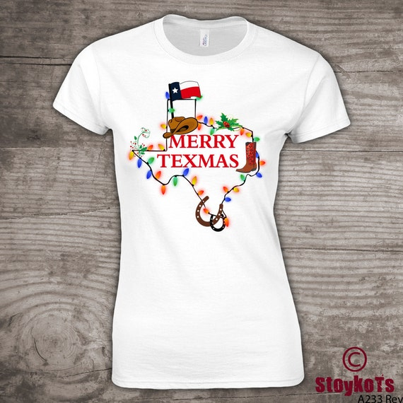 Christmas t-shirt Merry Texmas texas family gathering shirt