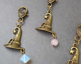 Witches Hat and Gemstone Keyring