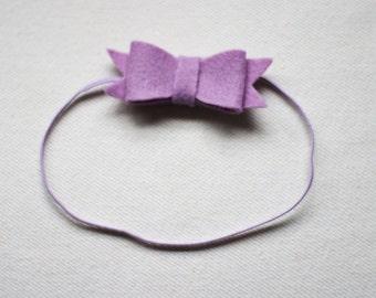 Baby Headband/Newborn Headband/Boho/Baby girl/Lavender/Boho style/Baby girl clothes/Bow/Headband/Baby bows/Baby shower gift/Felt bows