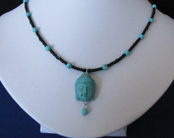 Turquoise Buddha necklace