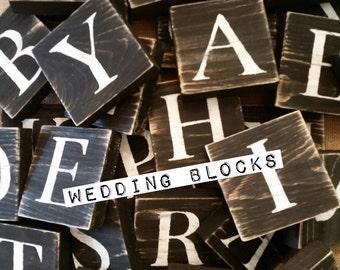 Wedding Blocks, Just Married Blocks, Mr & Mrs Blocks, Guestbook Blocks, Bride, Groom, Happily Ever After Sign, Wedded Bliss Sign, Wedding