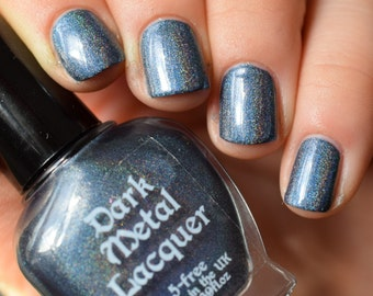 Tears of... - Steel blue holographic nail polish (11ml)