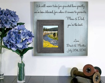 Wedding Gift For Parents, Mother of the bride, Thank you Gift, Father or the Bride, Mom and Dad Gift, Wedding Frame 16 x 16