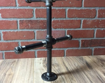 Industrial Style Jewelry Stand - Pipe Rack - Bracelet Holder - Necklace Stand
