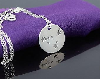 Silver Capricorn Necklace, Capricorn Necklace, Sterling Silver, Capricorn Constellation,  Capricorn Jewelry,Zodiac Necklace,Capricorn Zodiac