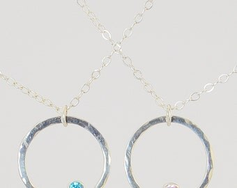 Best Friend Necklace, BFF Necklace, Friend Necklace, Sterling Silver Necklace, Gift for A Friend, Best Friend Jewelry, Birthstone Necklace