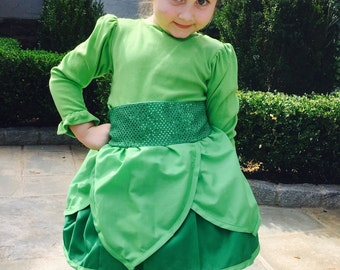 "Disneys Tinker Bell inspired "" grow with me"" dress/apron….Perfect for birthdays…Halloween…Trip to Disney!"