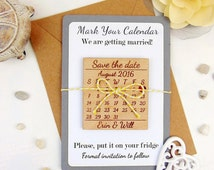 Calendar Save the Date with Backing Paper, Custom Save the Date Magnet, Wood Save the Date, Wedding Save the Date, Laser Cut Save the Date