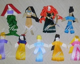 Princess Inspired Ribbon Sculptures! Hair Clip Accessory/Tie/Pin Disney Movie