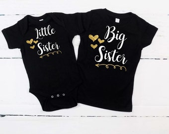 big sister little sister outfits big sister little sister shirts big sister little sister matching outfits matching shirts gender reveal tee
