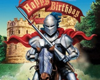 Knight Birthday Lunch Napkins / knights theme / medieval