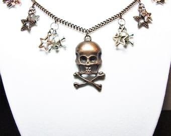 Skull & Crossbones Steampunk Necklace