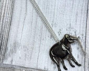 Elephant Anatomy Skeleton Necklace