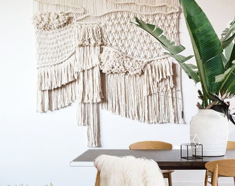contemporany macrame wall art / wall hanging / ranran design