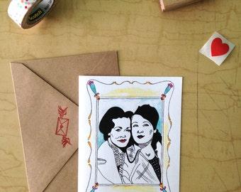 Best Friends - Friendship - Greeting Card