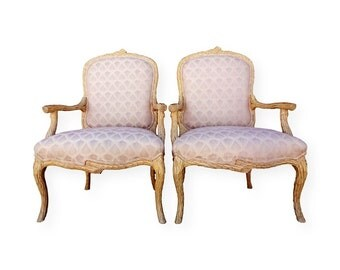 Fauteuil style bergere