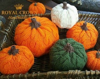 Knit pumpkin Fall decor,Autumn decor,Halloween decorations,Stuffed pumpkin,Thanksgiving centerpiece,Fall gifts,Autumn gift ideas