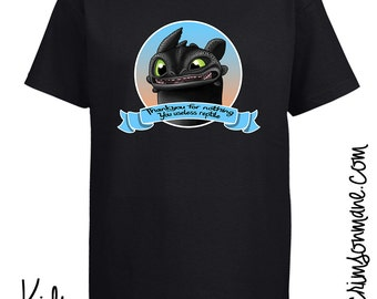Useless Reptile Toothless How to Train Your Dragon T-Shirt