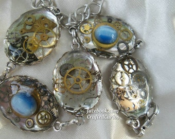 Steampunk Bracelet, Steampunk Jewelry, Shadowhunter, Doctor Who, Harry Potter, Shannara, The Mortal Instruments, Fallout Cosplay, Steam Punk