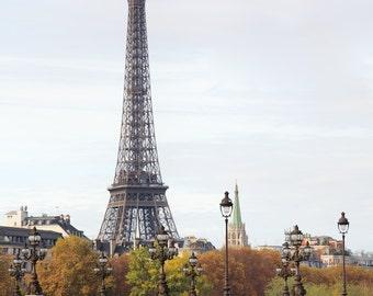 Paris photography, Eiffel Tower, bridge, Paris architecture, French wall art, Paris decor, home decor, fine art print