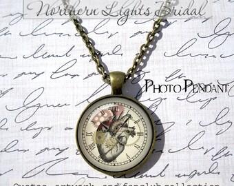 Steampunk heart anatomy necklace steampunk heart necklace clock gears and heart steampunk necklace steampunk jewelry steam punk anatomy gift