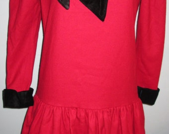 Red Black Bow Conservative Size 10 School madeline Dress