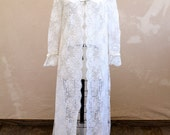 La Lucie - early 1960s sheer white lace robe