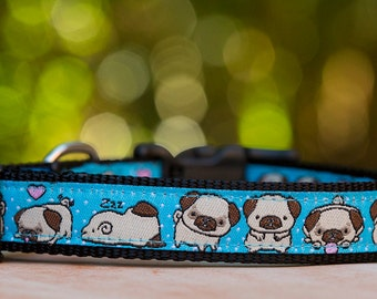 Pug Dog Collar / XS-XL / Dog Collars Australia