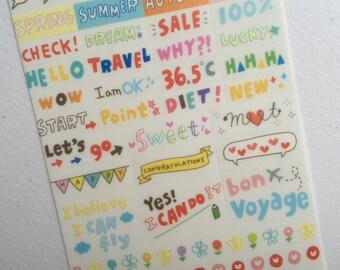 Emoji Stickers, Kawaii Planner Stickers, Korean Stickers, Diary Stickers, Filofax Stickers, Scrapbooking Stickers, Craft Stickers Set