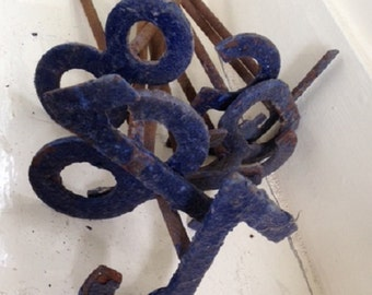 Set of vintage French metal branding irons