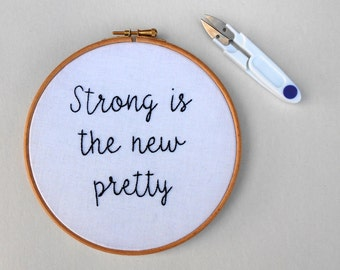Feminist Embroidery Hoop Art Modern Hand Embroidery Inspirational Quote Wall Decor Feminist Gift for Women